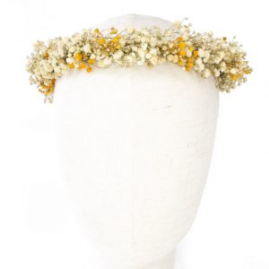 Corona de paniculata preservada boda