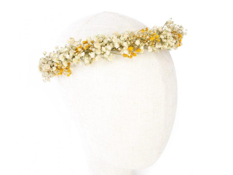 Corona blanca y amarilla de paniculata