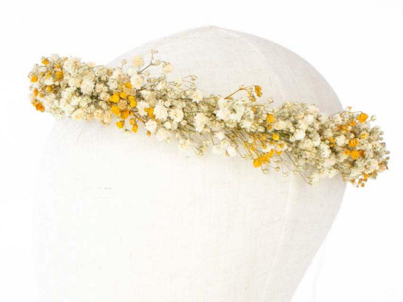 Corona de paniculata preservada para comunión