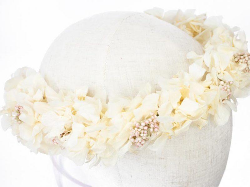 Corona blanca para comunión