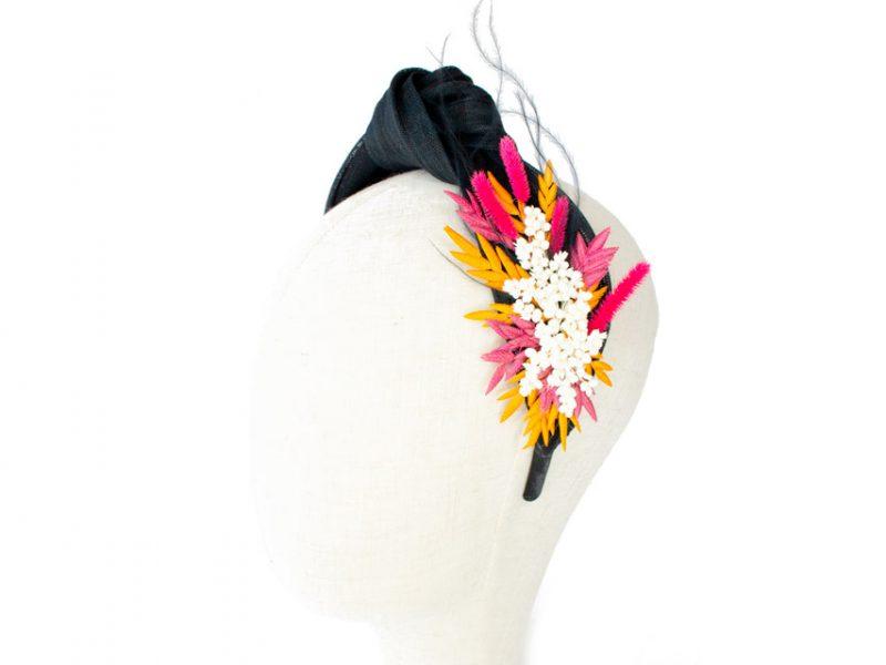Diadema turbante flor preservada