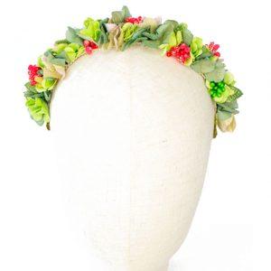 Diadema de flores de tela para invitadas boda