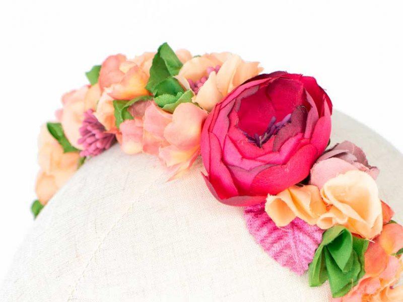 Diadema de flores para boda