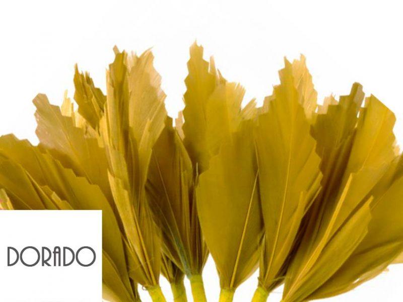 Diadema de plumas color dorado