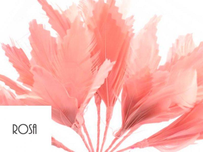 Diadema de plumas color rosa