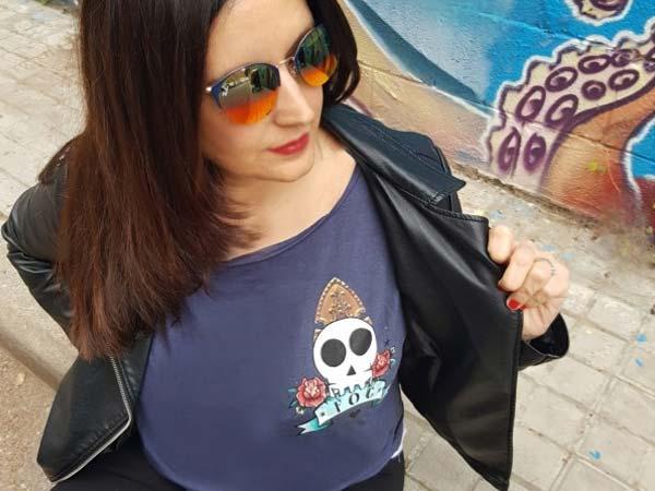 Camiseta decompritas con calavera