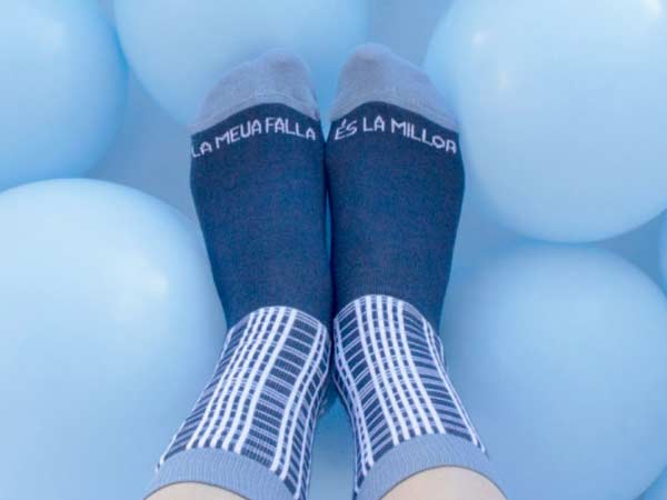 calcetines falleros pañuelo cuadros
