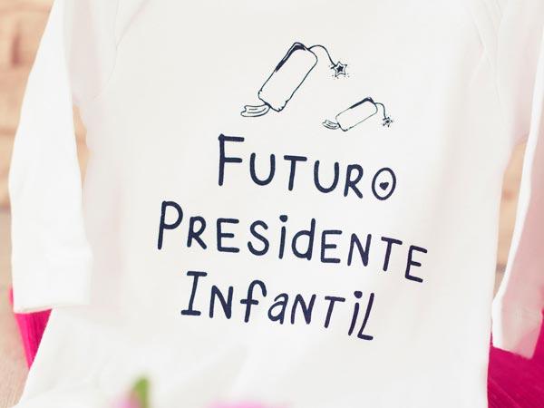 Body para bebé fallero presidente