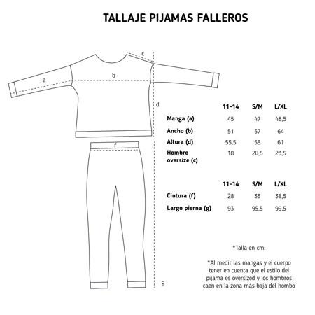 Pijama fallero guí de tallas