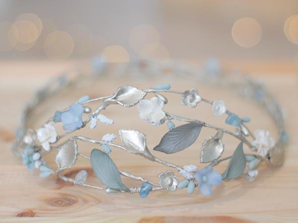 Corona Calais de novia porcelana