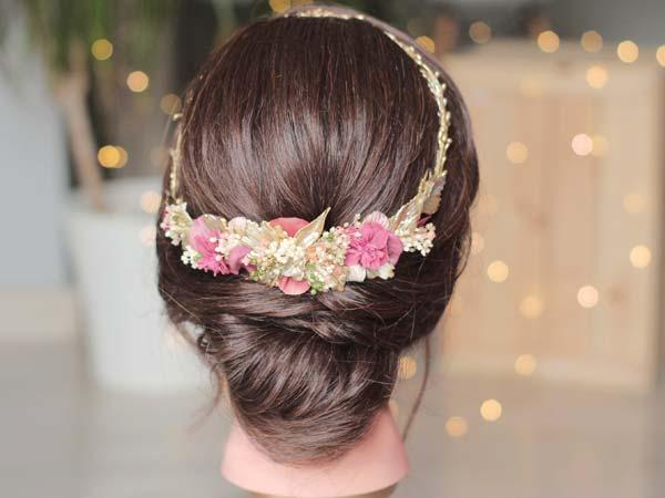 Corona para novia dorada