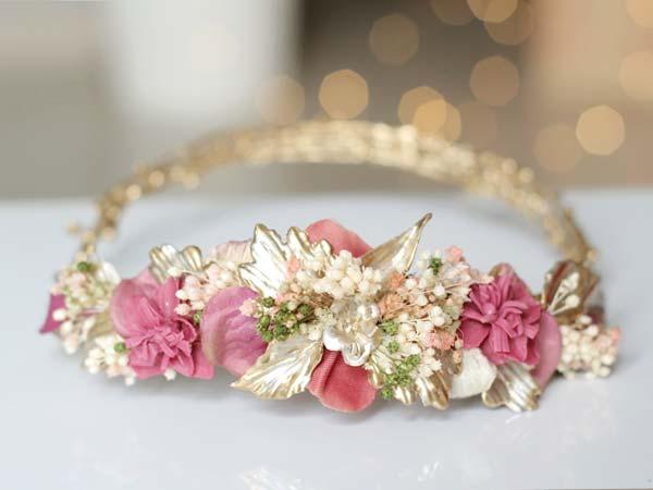 Corona novia tocado
